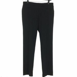 Kasper Black Ponte Pull On Pants with Slit Pockets Size 8